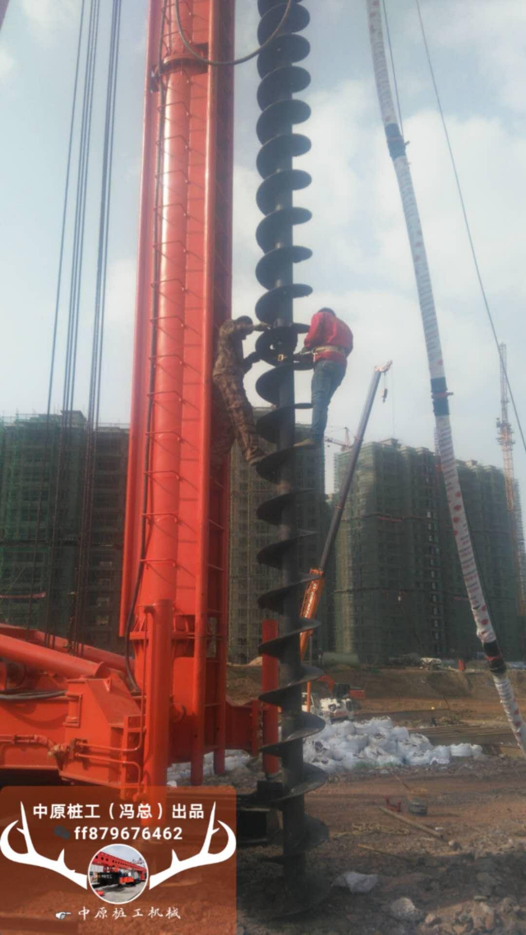 吹气长螺旋钻机高效施工